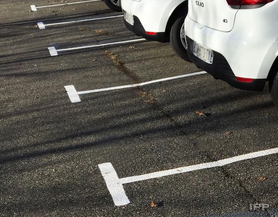 Marquage au sol Agiradom vue d'ensemble des lignes de parking
