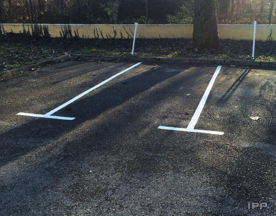 Marquage au sol Agiradom vue détaillée des lignes de parking