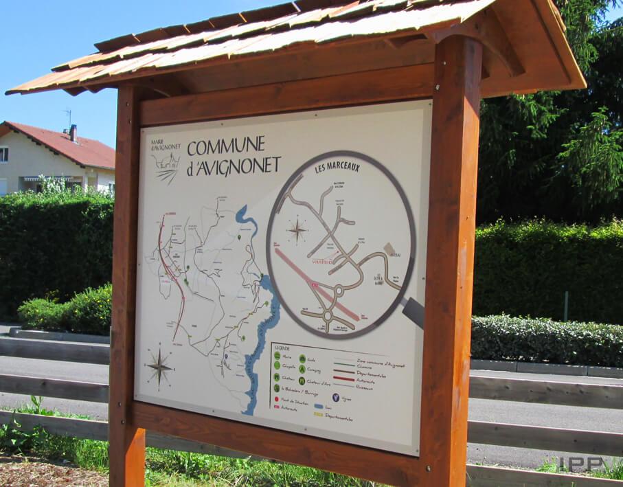 Signalétique touristique Avignonet vue détaillée de la structure