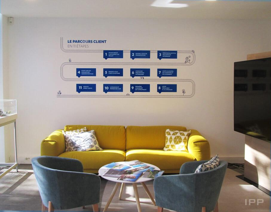 Signalétique intérieure Bouygues immobilier vue d'ensemble