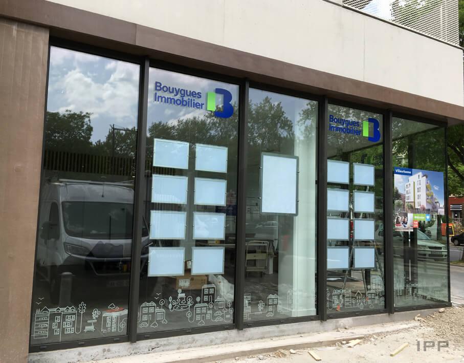 Marketing immobilier espace de vente Bouygues Immobilier vue d'ensemble de l'agence