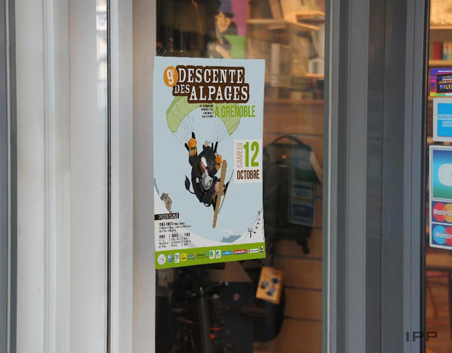 Événementiel affiche La Descente des Alpages vue de l'affiche