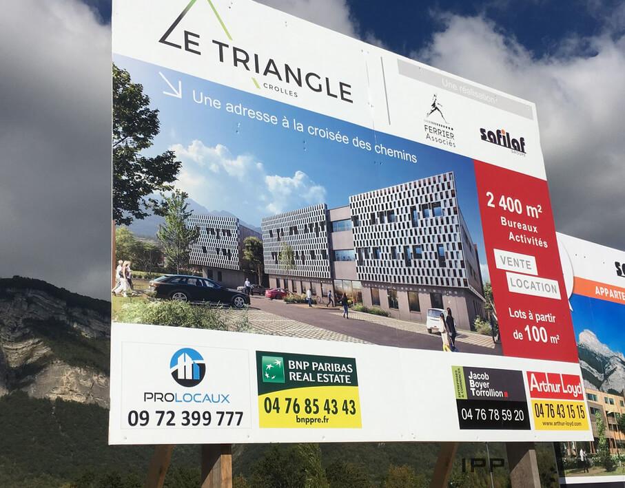Panneaux immobilier Ferrier Associés vue détaillée
