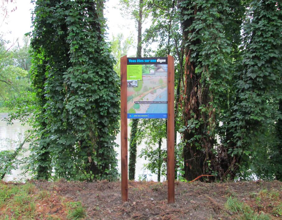 Signalétique touristique Isère Drac vue détaillée