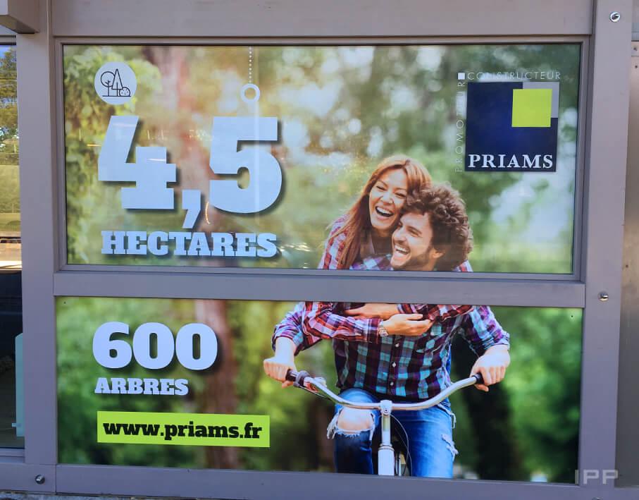 Marketing immobilier espace de vente Priams vue détaillée