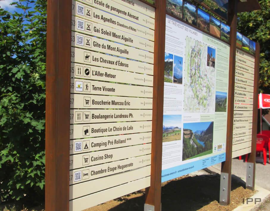 Signalétique touristique Communauté de communes du Trièves vue détaillée