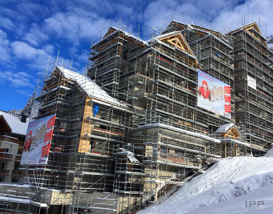 Marketing immobilier bâche Gilles Trignat vue d'ensemble