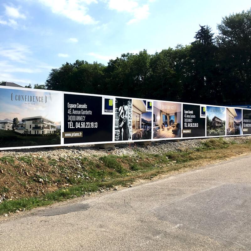 Marketing immobilier sur palissade