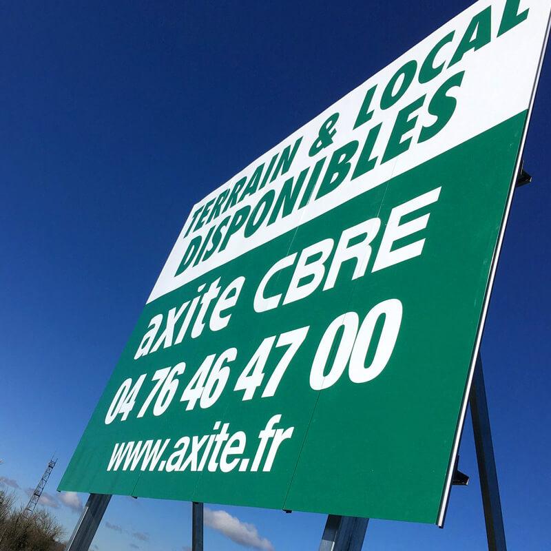 Solutions panneaux immobiliers AXITE-CBRE