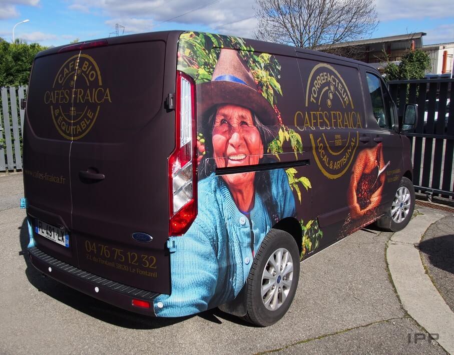 Covering véhicule Cafés Fraica vue d'ensemble
