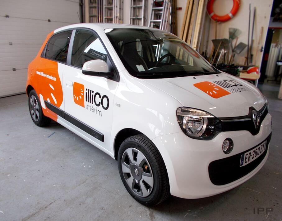 Covering véhicule Illico Intérim vue d'ensemble