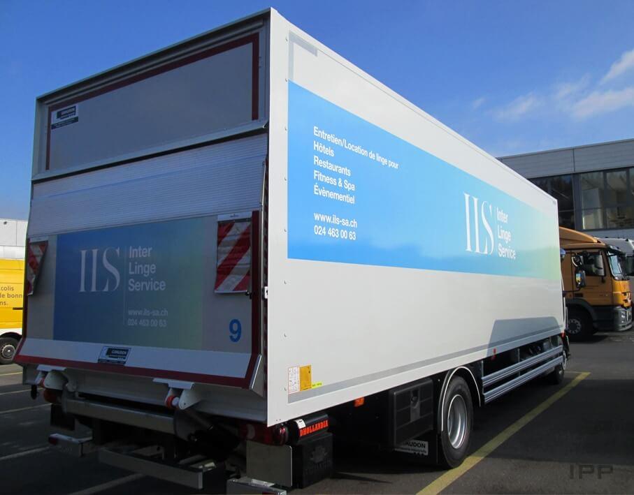 Marquage véhicule Inter Linge Service vue d'ensemble arrière