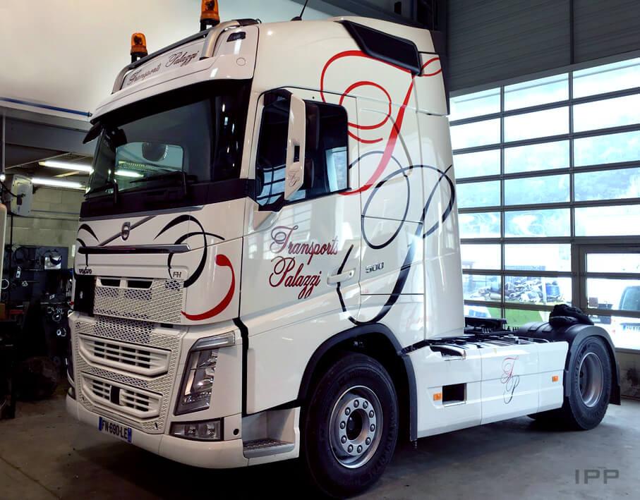 Marquage camion Palazzi vue d'ensemble