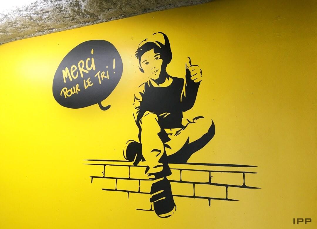 Décor mural en peinture pour COGEDIM