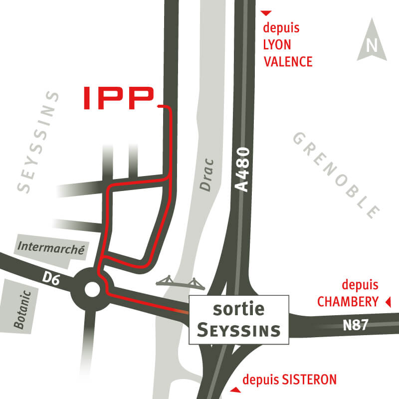 Plan d'accès IPP