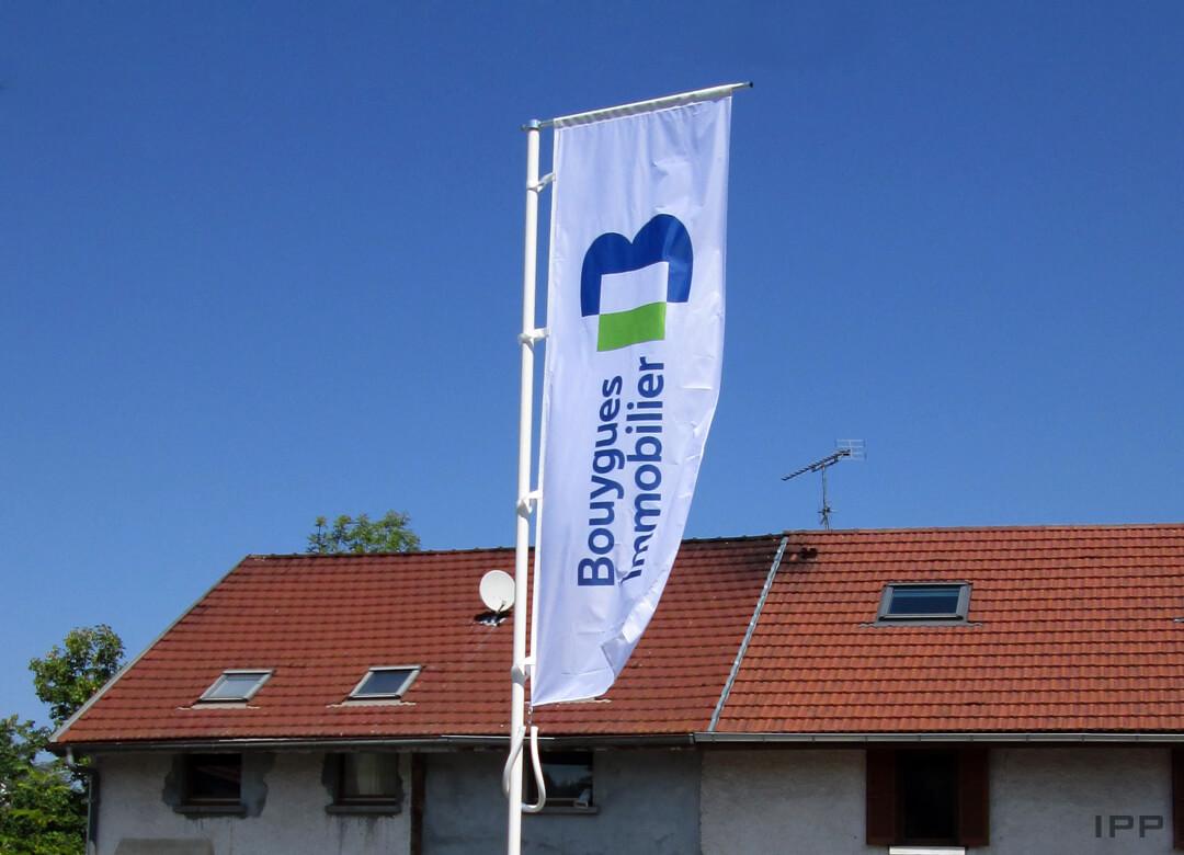Oriflammes drapeau pour BOUYGUES IMMOBILIER